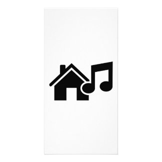 House music note personalized photo card
