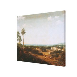 House of a Portuguese Nobleman in Brazil Canvas Print