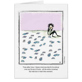 HOUSE OF CARDS cartoon by Ellen Elliott