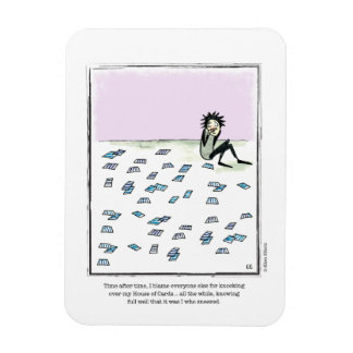 HOUSE OF CARDS cartoon by Ellen Elliott Rectangular Photo Magnet