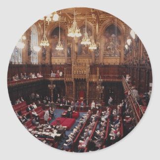 House of Commons chamber, inside Parliament, Londo Sticker