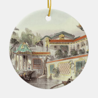 House of Conseequa, a Chinese Merchant, in the Sub Christmas Ornament