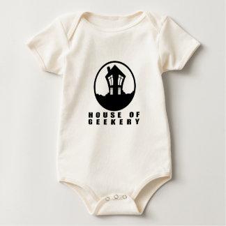 House of Geekery Logo + Name Baby Bodysuit