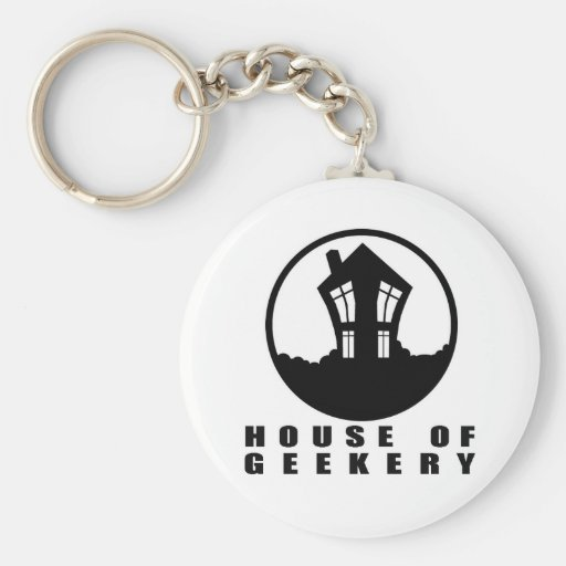 House of Geekery Logo + Name Keychains