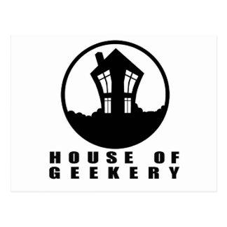 House of Geekery Logo + Name Postcard