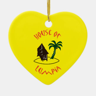 House of Lumpia Ceramic Heart Decoration