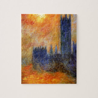 House of Parliament Sun by Claude Monet Jigsaw Puzzle