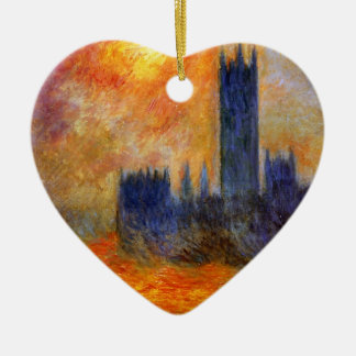 House of Parliament Sun - Claude Monet Christmas Ornament