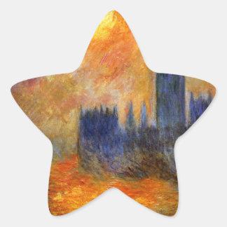 House of Parliament Sun - Claude Monet Star Sticker