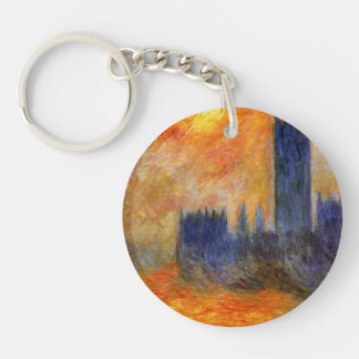 House of Parliament Sun Double-Sided Round Acrylic Key Ring