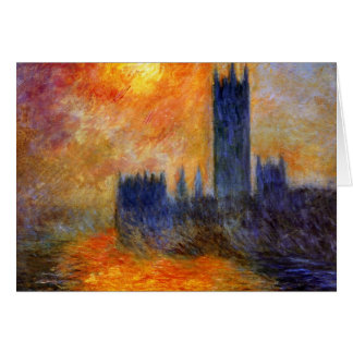 House of Parliament Sun Greeting Card