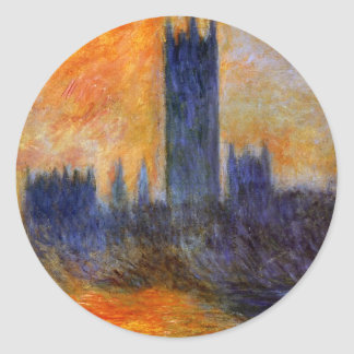 House of Parliament Sun Round Sticker