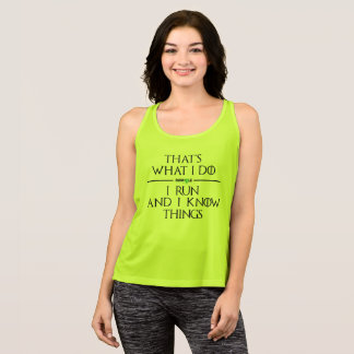 House of Runhole Women's Performance Tank (green)
