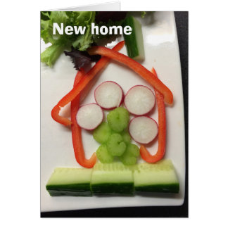 'House of salad' new home card