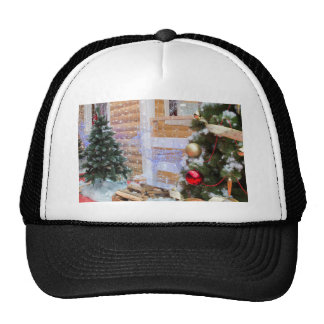 House of Santa Claus, Christmas trees and reindee Cap