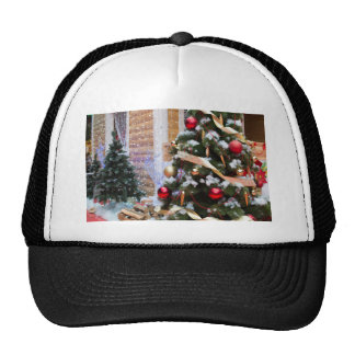 House of Santa Claus, Christmas trees and reindeer Cap