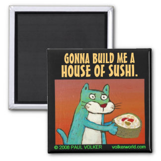 HOUSE OF SUSHI. $3.00 MAGNET