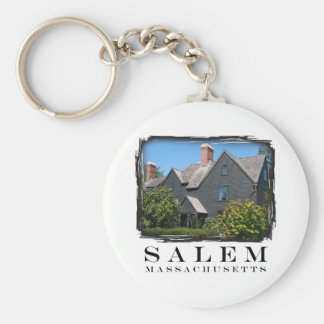 House of the Seven Gable Basic Round Button Key Ring