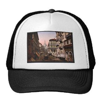House of Victor Emmanuel, Milan, Italy vintage Pho Trucker Hats