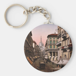 House of Victor Emmanuel, Milan, Italy vintage Pho Keychains