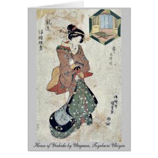 House of Yoshida by Utagawa, Toyokuni Ukiyoe Note Card