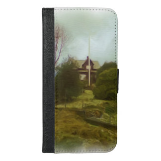House on a small hill iPhone 6/6s plus wallet case
