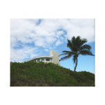 House on Hill with sky and palm tree in Florida Gallery Wrapped Canvas