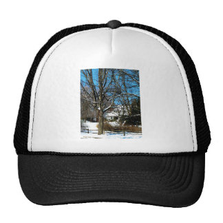 House on the Hill in Winter Hats