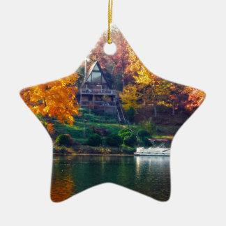 House on the Lake Christmas Ornament