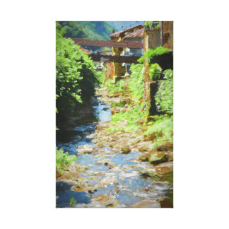 house on the river canvas print