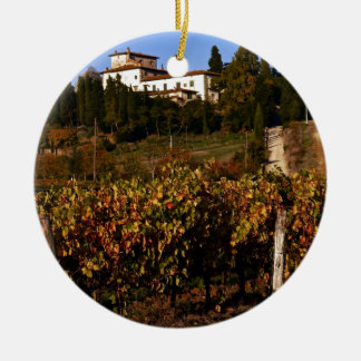 House on the Tuscan Hill Christmas Ornament