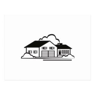 House Outline Postcard