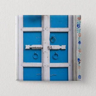 House painted blue, Udaipur, Rajasthan, India 15 Cm Square Badge