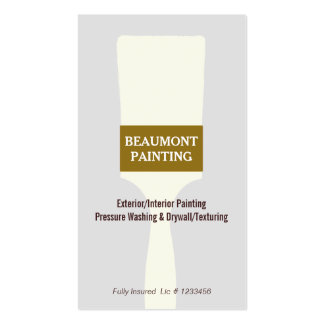House Painter Paint Brush Logo 2 Pack Of Standard Business Cards