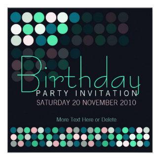 House Party Lights Stylish Birthday Invitation