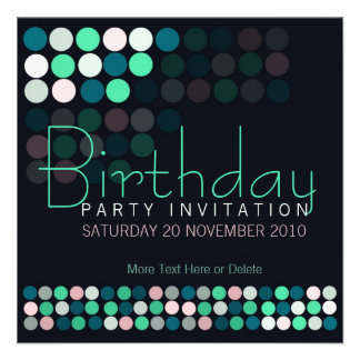 House Party Lights Stylish Birthday Invitation