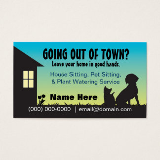 House / Pet Sitting & Plant Watering Business Card
