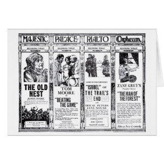 House Peters Zane Grey silent movie ads 1921 Greeting Card