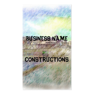 House photo drawing business card templates