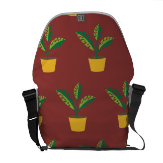 house plant red brown courier bags