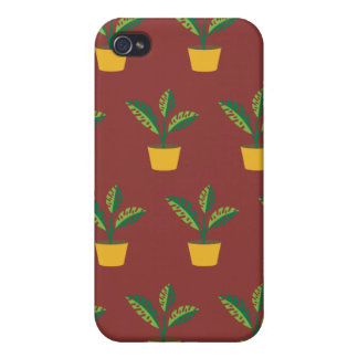 house plant red brown iPhone 4/4S cover