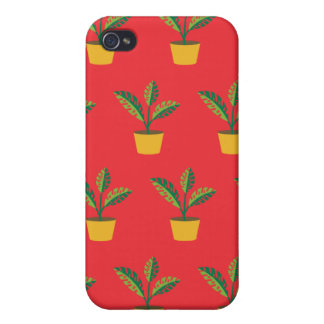 house plant red iPhone 4 covers
