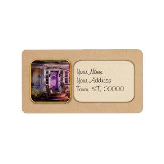 House - Porch - Cranford, NJ - Lovely in Lavender Address Label