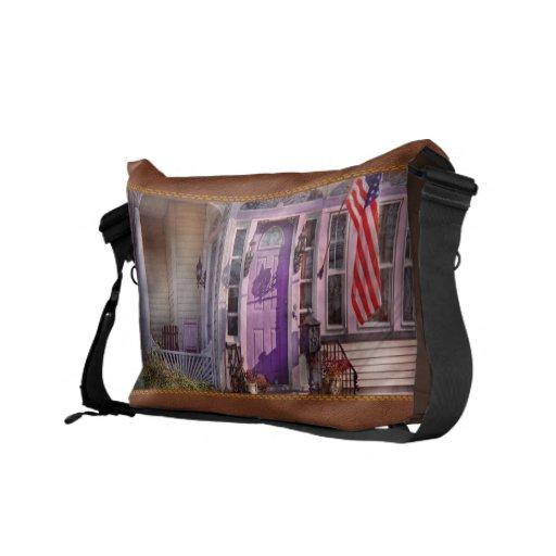 House - Porch - Cranford, NJ - Lovely in Lavender Courier Bag