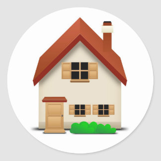 House Round Sticker