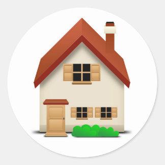 House Round Sticker