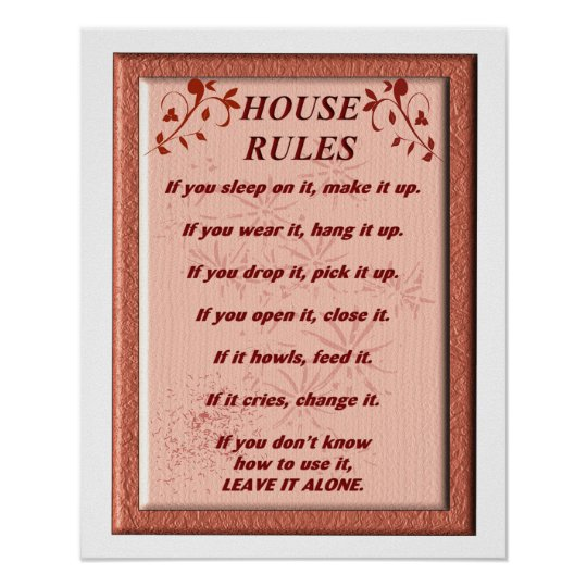 House Rules - Art Poster