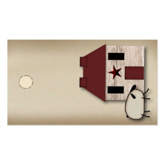 House & Sheep Hang Tag Pack Of Standard Business Cards