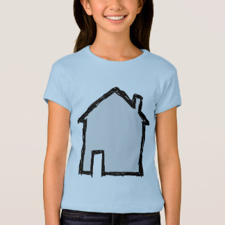 House Sketch. Black and Blue. T-Shirt