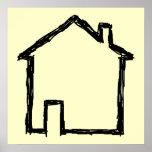 House Sketch. Black and Cream.